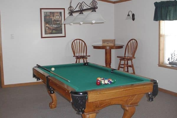 Pool table at North Star of Dover clubhouse