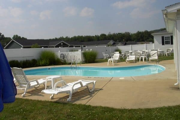 North Star of Dover, Ohio retirement community club house outdoor heated pool
