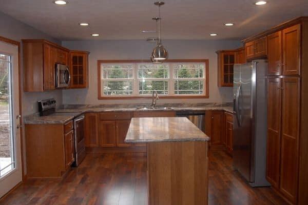 kitchen in condo at north star of dover, ohio